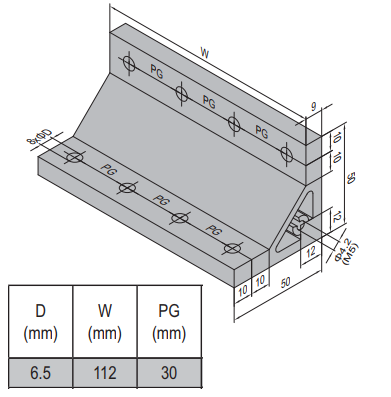 AP BRACKET 50X50-PG30-120 (SET) (3.31.50.30.120.ST)