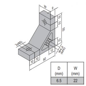 AP BRACKET 50X50-PG30-30 (SET) (3.31.50.30.30.ST)