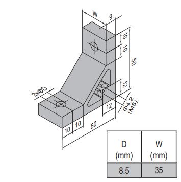 AP BRACKET 50X50-PG45-45 (PC) (3.31.50.45.45)