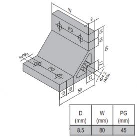 AP BRACKET 50X50-PG45-90 (PC) (3.31.50.45.90)