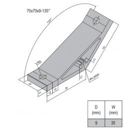 AP BRACKET 70X70-PG45-45 (SET) (3.31.70.45.45.ST)