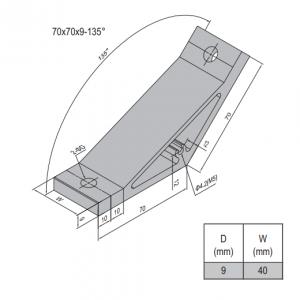 AP BRACKET 70X70-PG50-50 (SET) (3.31.70.50.50.ST)