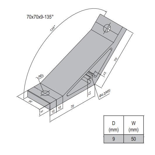 AP BRACKET 70X70-PG60-60 (SET) (3.31.70.60.60.ST)