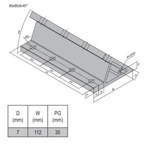 AP BRACKET 80X80-PG30-120 (SET) (3.31.80.30.120.ST)