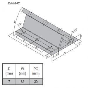 AP BRACKET 80X80-PG30-90 (SET) (3.31.80.30.90.ST)