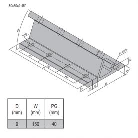 AP BRACKET 80X80-PG40-160 (SET) (3.31.80.40.160.ST)