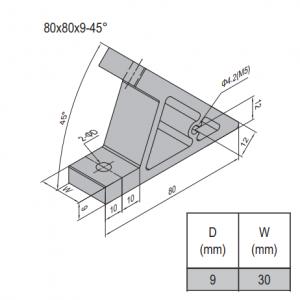 AP BRACKET 80X80-PG40-40 (SET) (3.31.80.40.40.ST)