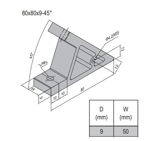 AP BRACKET 80X80-PG40-60 (SET) (3.31.80.40.60.ST)