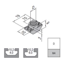 Modular Assembly T Nut