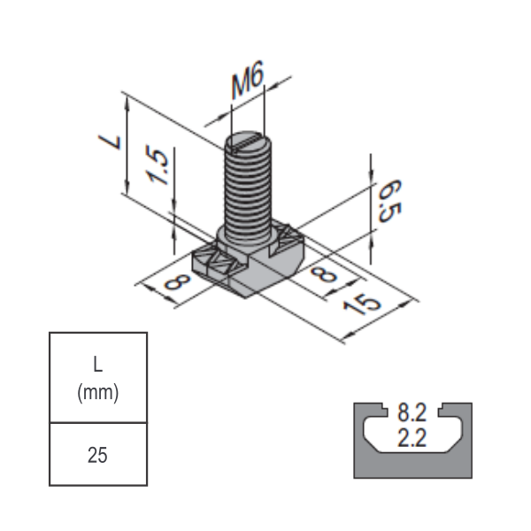 Modular Assembly T Bolt